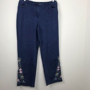Women's Plus Size Embroidered Jeans Size 1x